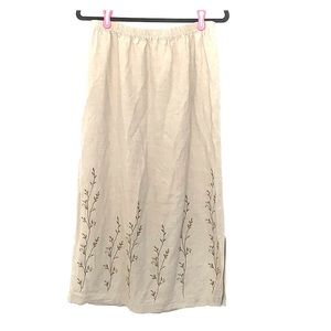 STUDIO WORKS linen blend skirt